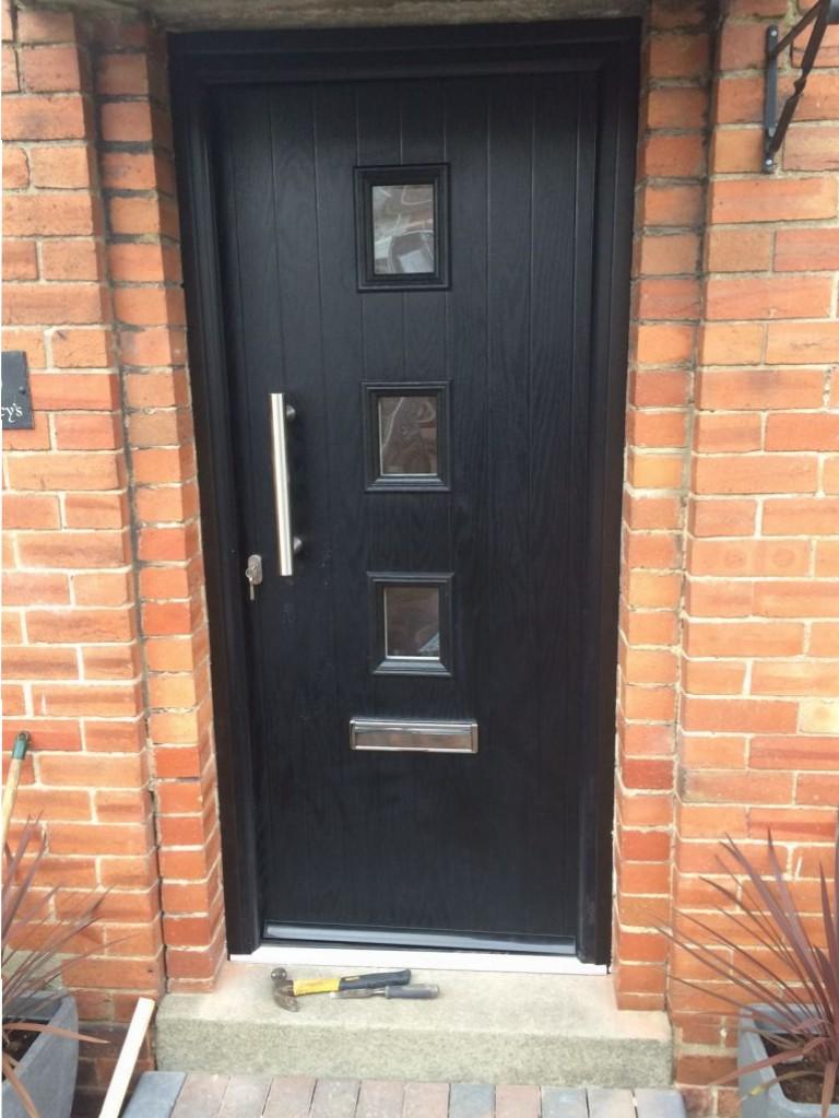 Black Solidor Composite Door Installations Garage Doors